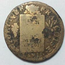 Pièce Monnaie 1793 An II 1 SOL AU BALANCES