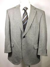 JOS A BANK Men's Gray Sports Jacket HERRINGBONE Sport Coat Wool 46 R
