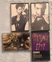 "PRINCE CASSETTE TAPE LOT OF 4, The Hits 1, The Hits 2, Sign ""O"" the Times, 1999"