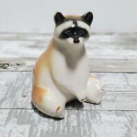 LOMONOSOV Porcelain - Red Panda Bear - Vintage Ceramic Figurine - USSR Russia
