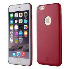 Hochwertiges Kunstleder Art Cover Schutzhülle für iPhone 6 Plus & 6S Plus in Rot