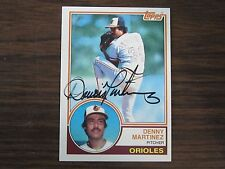 1983 Topps # 553 DENNIS MARTINEZ Autographed / Signed Card (C) Baltimore Orioles