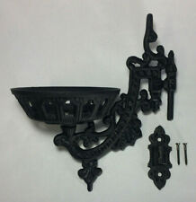 """New 9"""" Cast Iron Wall Bracket For Oil Lamps, Early American / Victorian Style"""