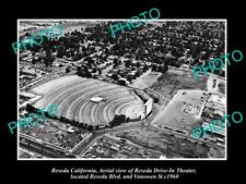 OLD 8x6 HISTORIC PHOTO OF RESEDA CALIFORNIA THE RESEDA DRIVE IN THEATRE c1960