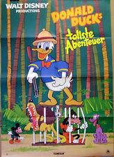 Walt Disney DONALD DUCKS TOLLSTE ABENTEUER original Kino Plakat A1
