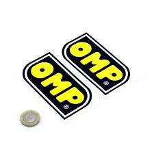 OMP STICKERS Badge Decal Vinyl Car 100mm x2 Race Racing Car