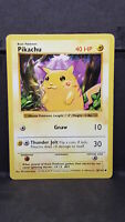 Pokemon Card Pikachu Red Cheeks Error Base Set 58/102 Light Play RARE #1