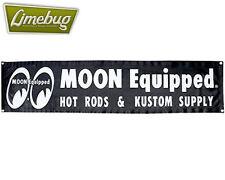 Mooneyes Garage Banner Negro Taller Vinilo Hotrod Vw Camper Beetle Hotrod Bug
