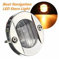 12V LED Marine Boat Yacht Stern s Chrome Transom Mount Navigation