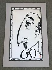 "AMERICAN SUMI-E INK ARTIST MICHAEL HOFMANN ""SELF-POTRAIT"" PAINTING ON PAPER."