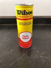 Sealed Vtg Wilson Championship Tennis Balls Extra Duty Felt Optic Yellow