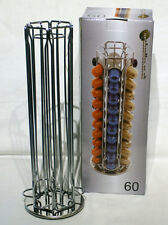 Nespresso High Quality 60 Capsule Pod Holder Stand Rack with Rotating Base
