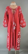 Raj RED Bohemian Embroidered Dress M Chic ETHNIC NWT
