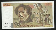 100 Francs Delacroix 1978 ; Alph 3 Avec Hachures SUP