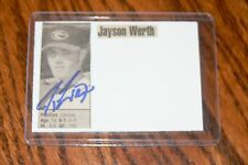 JAYSON WERTH SIGNED AUTOGRAPHED CARD SIZED CUT PICTURE WASHINGTON NATIONALS