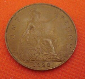 British Penny 1928 EF
