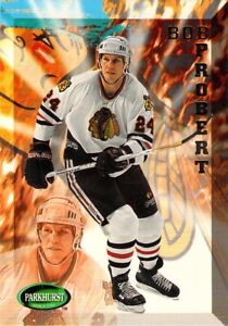 1995-96 Parkhurst NHL Ice Hockey Bob Probert Card #312 Chicago Blackhawks RW