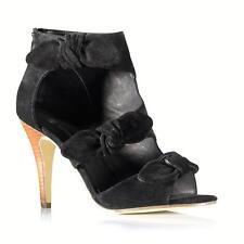 Chaussure Femme Cuir Nubuck Noir à talons 9 cm Taille 37 38 39 fermeture Zip