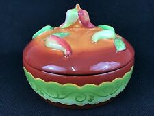 Laurie Gates Santa Fe Chili Peppers Covered Casserole Serving Dish Bowl