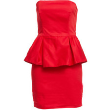 BARDOT formal cocktail peplum red strapless Dress size 8  FREE POST