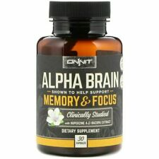 Onnit Alpha Brain Memory & Focus Food Supplement, 30 Capsules