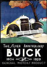 Classic 1929 BUICK AUTOMOBILES SILVER ANNIVERSARY Vintage Poster Reprint