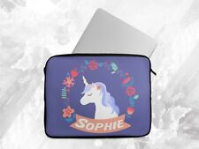 Personalised Any Name Unicorn Laptop Case Sleeve Tablet Bag Chromebook Gift 6