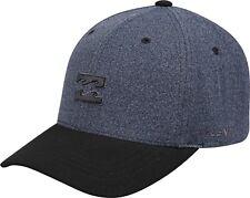 Mens Billabong Gorra de Béisbol. todo el día Flexifit Estiramiento Azul Marino Sombrero Pico Curvo 9W 2 2