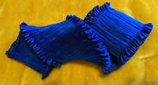 "2"" WIDE FORTUNY STYLE PLEATED RAYON MOIRE' RIBBON - ROYAL BLUE - BY THE YARD"