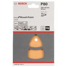 Bosch Feuilles Abrasives Multi-Ponceuses Bon pour Bois + Paint K80 11 Trous