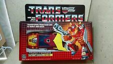 Hot Rod Transformer G1 Boxed 100% Complete Box Styrofoam Vintage Action Figure