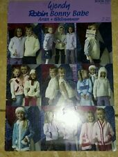 Wendy Robin Bonny Babe Aran and Shimmer knitting pattern booklet
