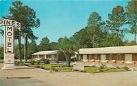 Pines Motel Valdosta Georgia GA old car Postcard