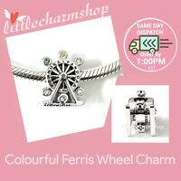 New Authentic Genuine PANDORA Colourful Ferris Wheel Charm - 797199NLCMX RETIRED