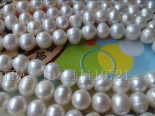 """Wholesale 4 strands 12-13mm White Freshwater Pearl Loose Beads 14.5"""""""