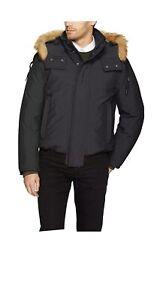 Marc New York Mens Jacket Black USA Medium M Lowell Insulated Bomber $399 102
