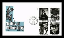 DR JIM STAMPS US MASTERS OF PHOTOGRAPHY COMBO FDC COVER PLATE BLOCK UNSEALED