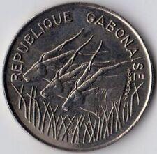 "CONGO-GABON, Vintage 1975  100 FRANCS COIN, ""AU"" Almost Uncirculated, NICE COIN"