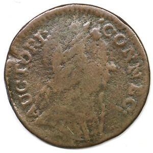 1785 6.2-F.1 R-3 Connecticut Colonial Copper Coin