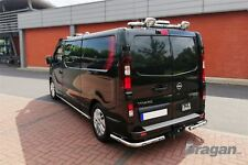 To Fit 2014+ Renault Trafic Stainless Steel Rear Corner Back Nudge Bars + LEDs