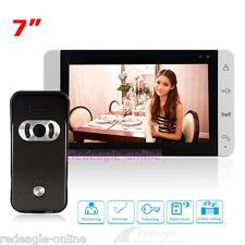 "Wired 7"" Video Door Phone Intercom System 700TVL IR Camera Touch Key LCD Monitor"