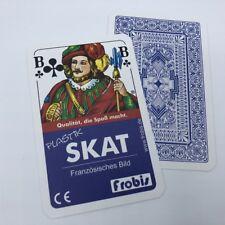 2 Skat Kartenspiele 100%25 Plastik Französisches Bild, Spiele Spielkarten Frobis