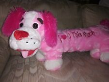 """Dan Dee Dog Plush 26"""" I Heart Love You This Much Valentines Day Pink White..."""
