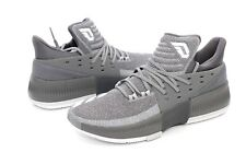 the latest 7a048 bff95 Adidas Damian Lillard Dame 3 Grey White BY3193 Basketball Shoes Size 10 US  NIB