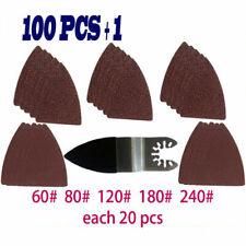 100pcs Finger Sanding Sheets Pads Paper Set Oscillating Multitool Saw Blade S