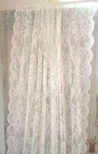 Gardine LUCIA Offwhite Spitzen Rosen 2 x 120x240  Vintage Shabby Curtain Brocant