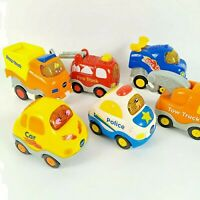 Lot of 6 Vtech Go Go Smart Wheels Vehicles Race Car Tow Fire Dump Truck Police