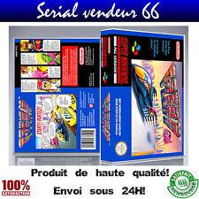 "Boitier du jeu ""F ZERO"", super nintendo, visuel PAL FR. HD"