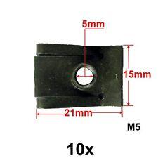 10 x m5 Filetage tôle mère en tôle pince clip support/captif Nut Clip