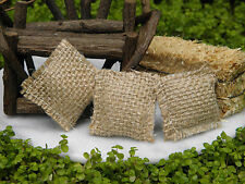 Miniature Dollhouse FAIRY GARDEN Farm Accessories ~ Set of 3 Burlap Gunny Sacks